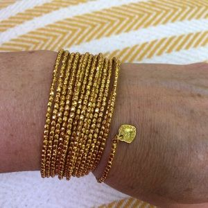 Stella and Dot gold wrap around bracelet
